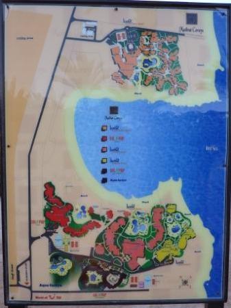 Jaz Dar El Madina: mappa dell'hotel (è quello nero)