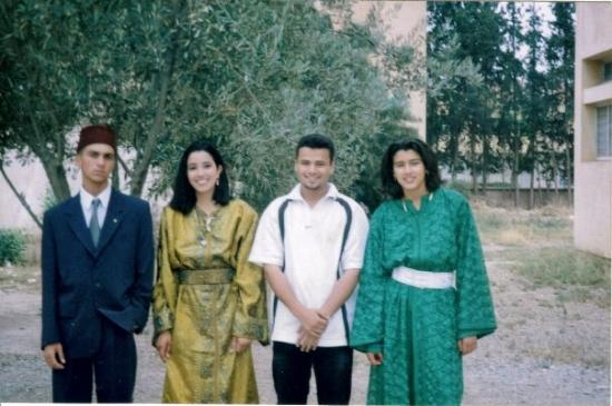 me, asmaa houat, jamal and sarah el adnani. in ziri ibn atia (oujda, june 1999)