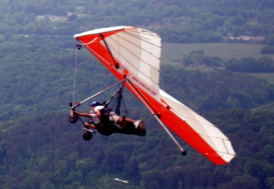 Handglider off West Brow of Lookout Mountain, Chattanooga, TN