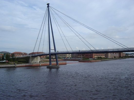 Stockton-on-Tees, UK: Brücke in Stockton