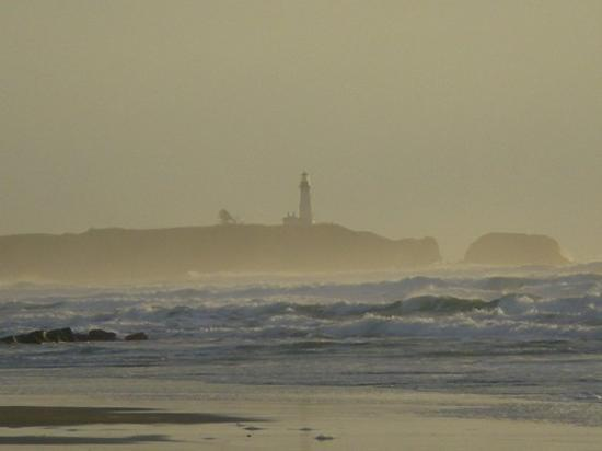 Yaquina Head Outstanding Natural Area: Light house through the mist