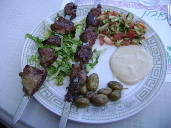 Nasaret, Israel: Lamb Kebobs - Yummy!