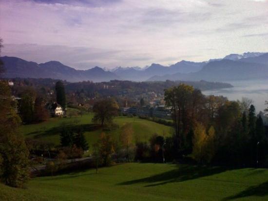 Lake Luzern: Blick vom Koservatorium