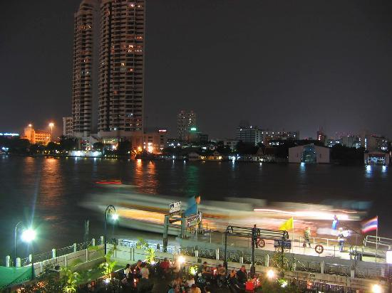 Navalai River Resort: View from balcony at night