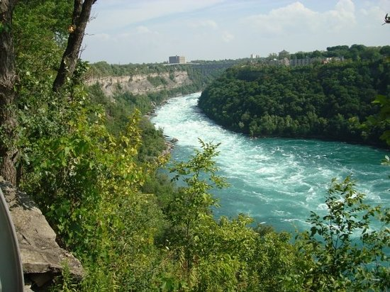 Niagara Gorge Trail : looking down through the gorge