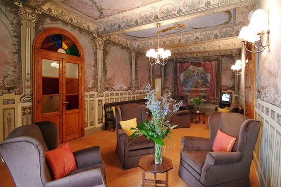 Palazzo San Niccolo': Salone interno con affreschi originali