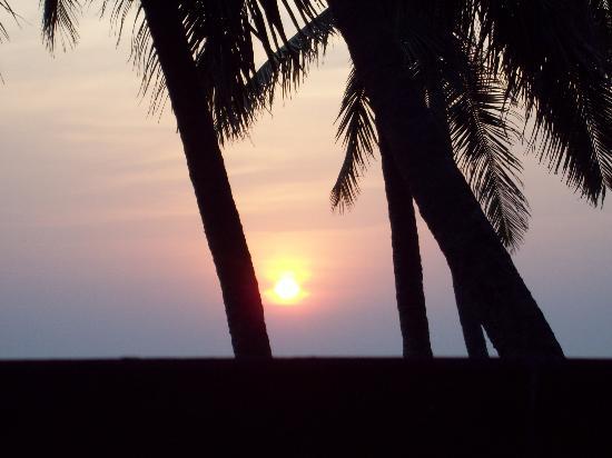 Goa, Indien: puesta de sol anjuna