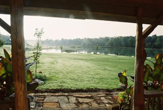 Looking out from the front door of the cabin. - Picture of Marion ...
