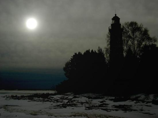 the Cana Island light on Lake Michigan near Baileys Harbor
