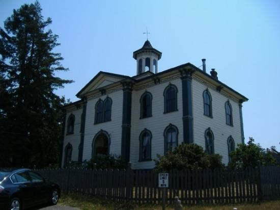 "Bodega Bay, CA: Schoolhouse in the movie ""The Birds"""