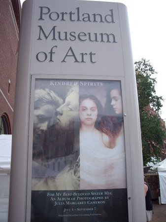 "Portland Museum of Art: The ""Kindred Spirits"" exhibit features contemporary photos by Joyce Tenneson, all Polaroids; and"