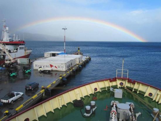 Canal Beagle: A good sign: a rainbow shows us the way!