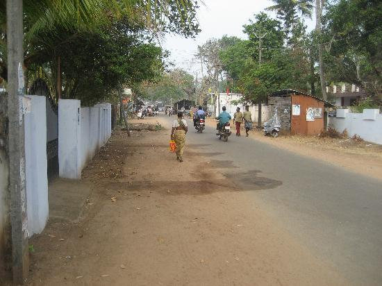 Motty's Homestay: Road to town