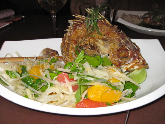 E&O Kitchen and Bar: Deep fried fish