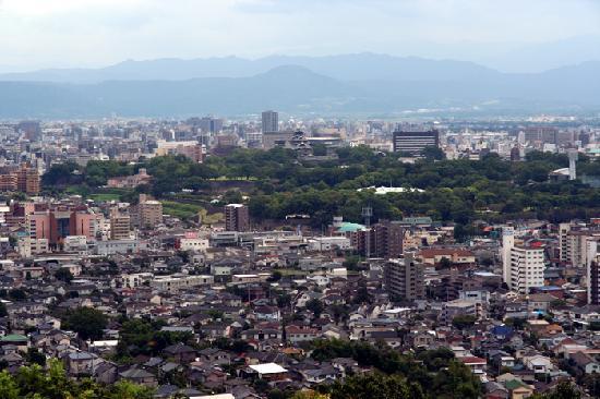 本妙寺, 高台から見える熊本城