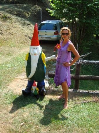 Lugano, Switzerland: Eva And The Giant Garden Gnome