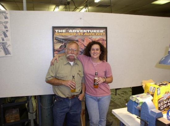 Fremont, NE: me and Bill Laughridge at Cylinder & Slide class, 2005