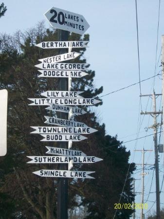 Harrison, MI: sign in town. i kinda like it...