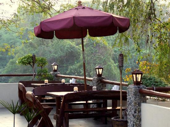 Oriental Kwai Resort: The terrace - lovely for drinks and meals ...