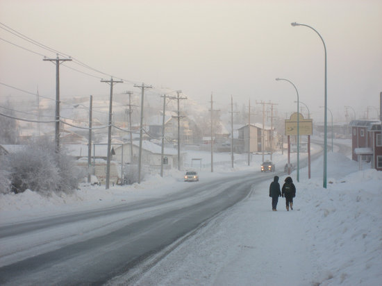 Old town at -40 C