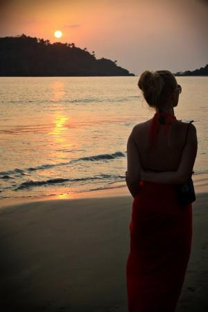 Canacona, India: sunset on the beach