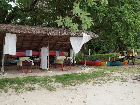 Massage kayak storage shed picture of bokissa private for Garden shed tripadvisor