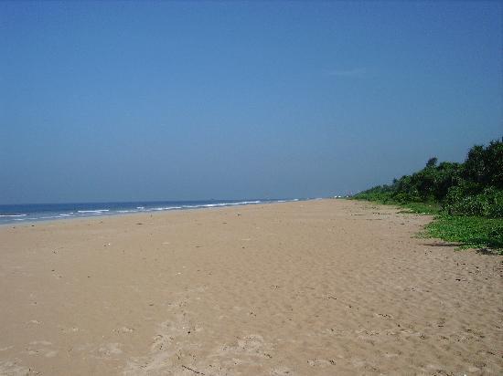 Shangri-Lanka Villa: empty beach at the end of the road