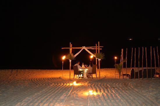 Le Reve Hotel & Spa : Dîner romantique