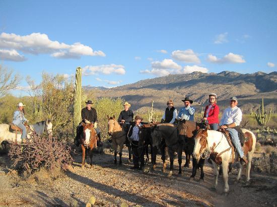 Houston's Horseback Riding: Sunset ride-group shot