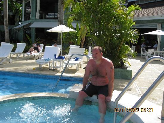 Couples Negril: Lobster Burn because I didn't use sun screen before the Catamaran Cruise!