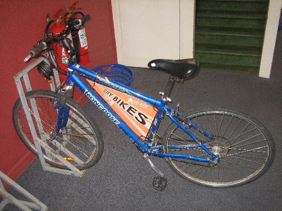 Backpack OZ: Free bike.