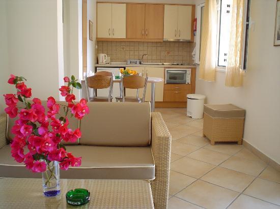 Solaris Kassiopi Apartment: kitchen area