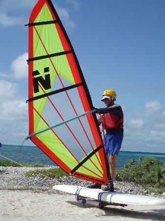 Long Caye Resort: Wind surfing orientation on Long Caye