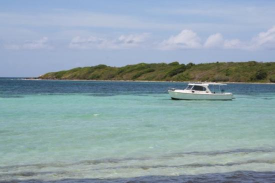 Media Luna beach on Vieques