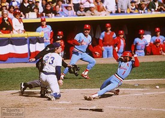 Busch Stadium The Wizard Scores As Ted Simmons Waits For Throw World Series