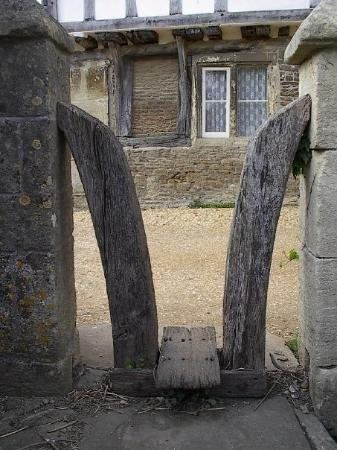 Sheep gate in 16th century village of Lacock