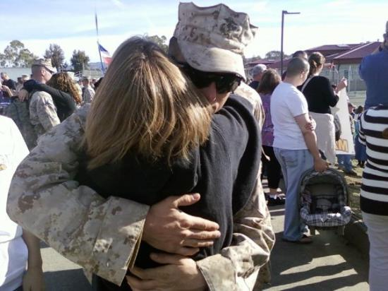 Camp Pendleton, CA: my hero!!!!! i couldnt wait to get this hug