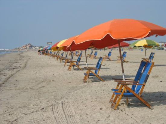 East Beach Rows Of Tents Waiting 4 U Galveston