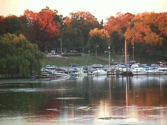 Fall season - a view of the marina from our apartment