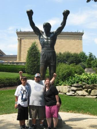 Me And Rocky Statue In Philly Picture Of Rocky Statue