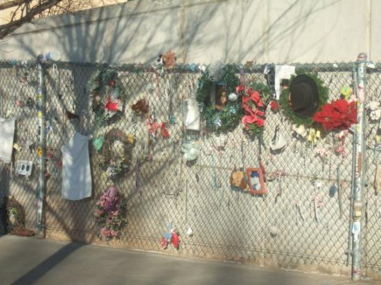 Oklahoma City National Memorial & Museum: this is a fence that was originally put up after the bombing to close in the area...but they con