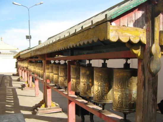 Ulaanbaatar, Mongolia: Prayer wheels