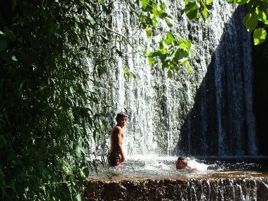 Royal Decameron Salinitas: Local kids at the cascades