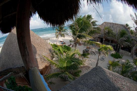 ‪‪Hotel CalaLuna Tulum‬: From the balcony - Cabana #2‬