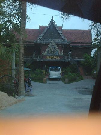 angkor spirit palace from our departing car...