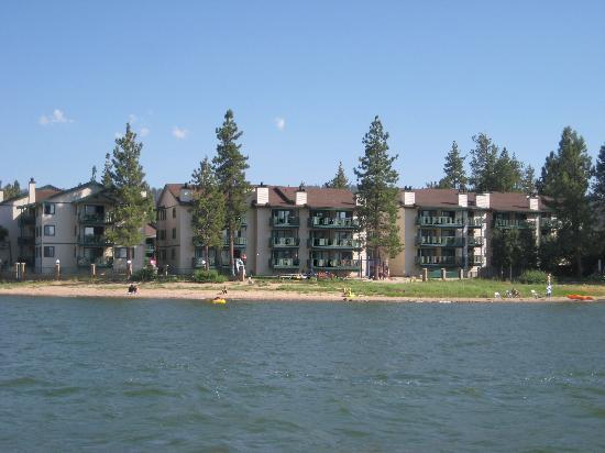 Lagonita Lodge as seen from the fishing pontoon we rented