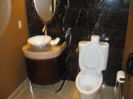 Mandarin Oriental, Las Vegas: Separate toilet/sink from the rest of the bathroom. Genius!