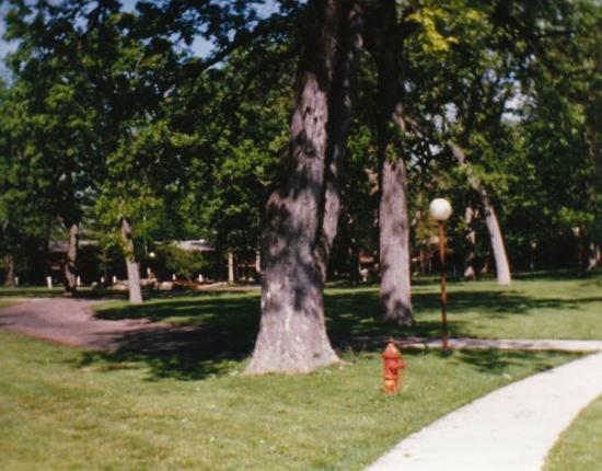 Delavan, WI: The backyard grounds at Lake Lawn Lodge, Delevan, Wisconsin (to date as far north or west as I h