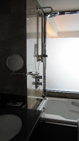 Lotte Hotel Seoul: bathroom (shower and bathtub)