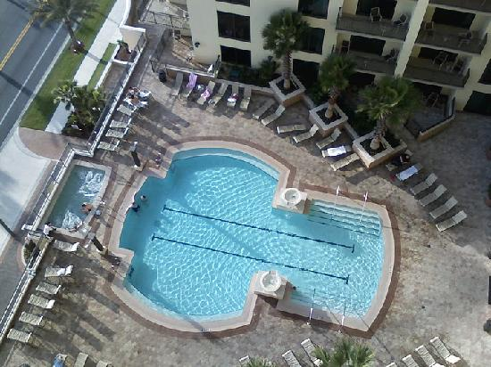 Origin Beach Resort : pool and jacuzzi from my blacony